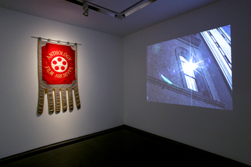 ANTHOLOGY FILM ARCHIVES BANNER 1970 LABORATORIUM ANTHOLOGY 2001 Installation view, Jonas Mekas Serpentine Gallery, London. © 2012 Jerry Hardman-Jones